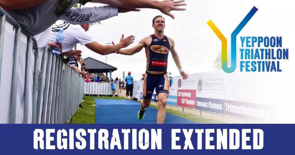 Triathlon registration has been extended