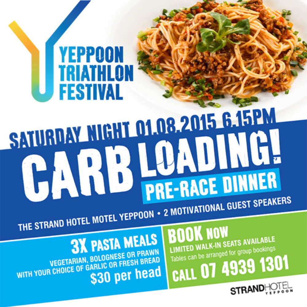 Carb Loading Pre-Race Dinner – 1 August 2015